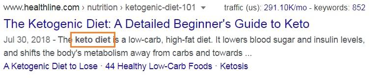 adding keywords in description