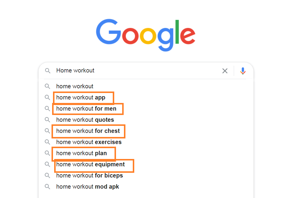 finding LSI keywords from google autosuggest