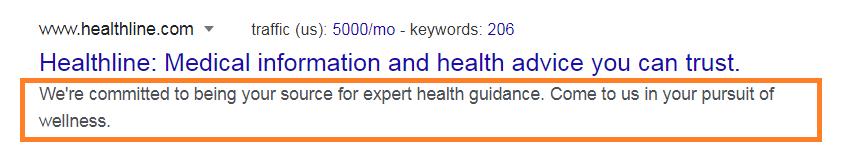 Health blog description example