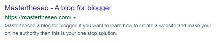 my blog description example