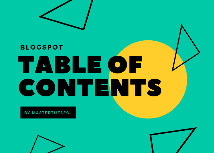 add table of content in blogger post and pages