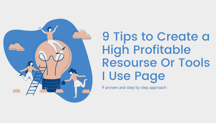 How to create a profitable resource page