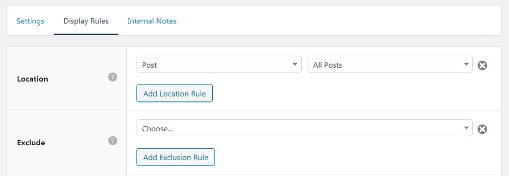 Display rules of Author bio box